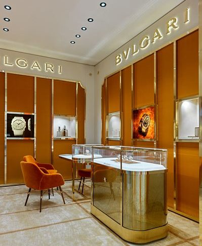 The first Bvlgari watch boutique opened in Moscow