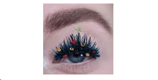 Decorate your eyelashes for the New Year!