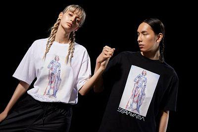 """Hajime Sorayama jointly with XLARGE released a merch dedicated to the exhibition """"Sex Matter"""""""