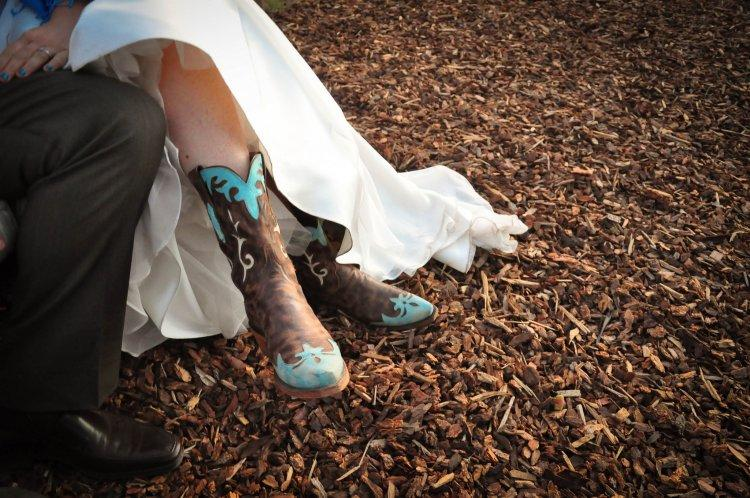 Boots in the image of a bride
