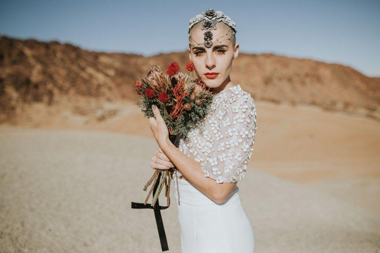 Bride with extremely short hair