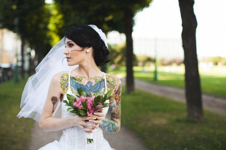 Let the dress reveal the tattoos