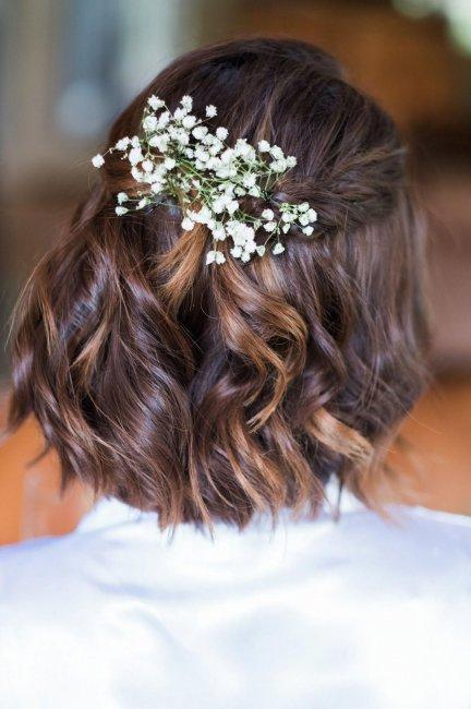 Delicate curls for short hair