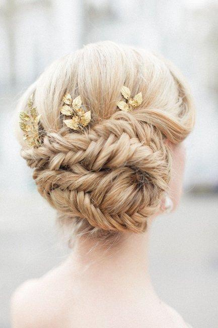 Complex weave hairstyle