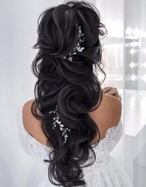 Wedding hairstyle with intricate weaving
