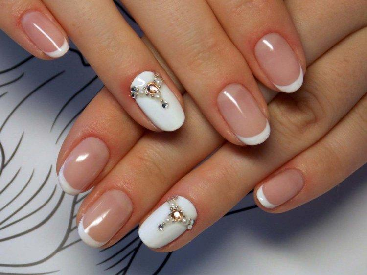 French manicure for a wedding